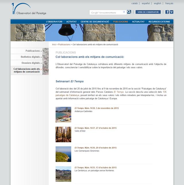 Secció web Mitjans de col·laboració